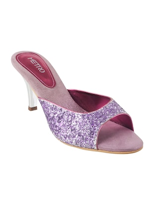 purple sheet slip on sandals - 14422813 - Standard Image - 1