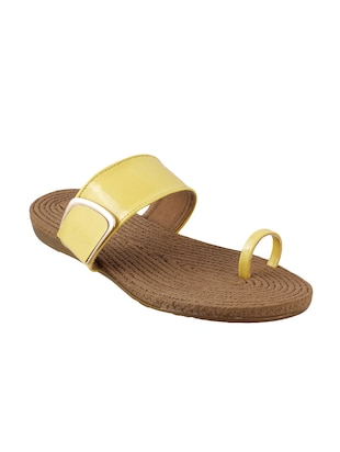 yellow one toe  sandal - 14422852 - Standard Image - 1