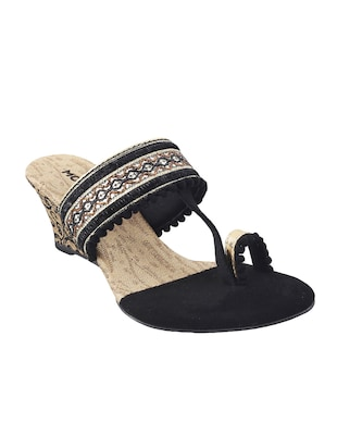 black one toe  wedge - 14422870 - Standard Image - 1