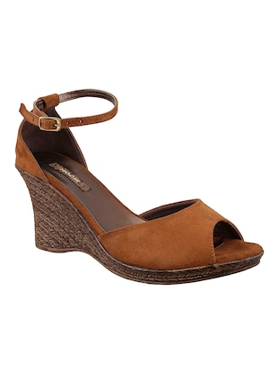 tan ankle strap wedge - 14422998 - Standard Image - 1