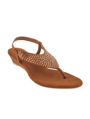 brown back strap wedge - 14423202 - Standard Image - 1