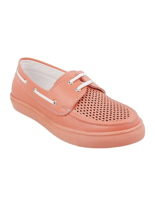 pink tpr laceup sneakers - 14423290 - Standard Image - 1