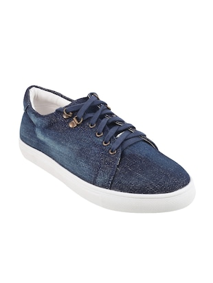 blue  lace-up sneaker - 14423298 - Standard Image - 1