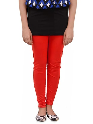 red woolen leggings - 14424587 - Standard Image - 1