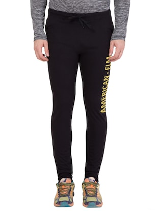 black cotton track pant - 14424788 - Standard Image - 1