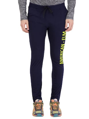 navy blue cotton track pant - 14424798 - Standard Image - 1