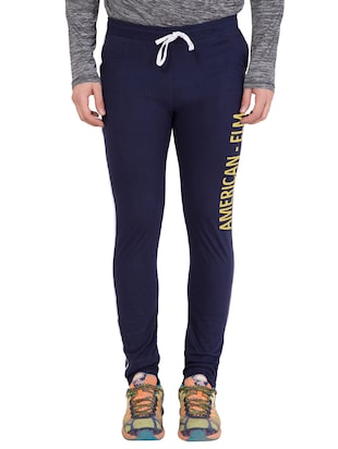 navy blue cotton track pant - 14424802 - Standard Image - 1