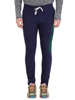 navy blue cotton track pant - 14424807 - Standard Image - 1