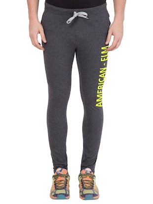 grey cotton track pant - 14424813 - Standard Image - 1