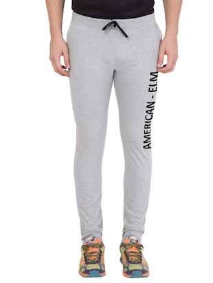 grey cotton track pant - 14424821 - Standard Image - 1