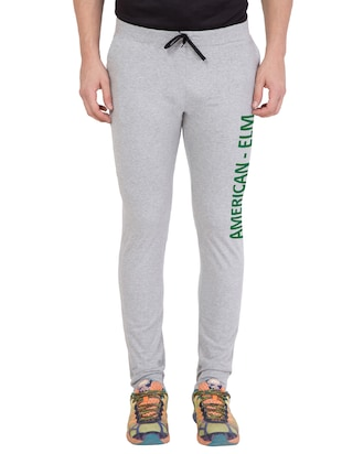 grey cotton track pant - 14424822 - Standard Image - 1
