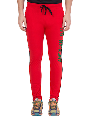 red cotton track pant - 14424845 - Standard Image - 1