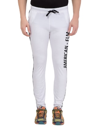 white cotton track pant - 14424851 - Standard Image - 1