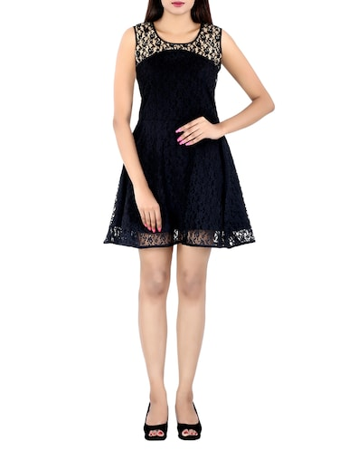 black net aline dress - 14425074 - Standard Image - 1