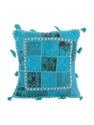 Cotton Single Rajasthani Traditional Cushion Cover By Rajrang - 14425222 - Standard Image - 1