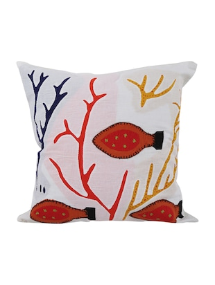 Cotton Single Rajasthani Traditional Cushion Cover By Rajrang - 14425238 - Standard Image - 1