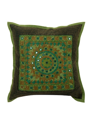 Cotton Single Rajasthani Traditional Cushion Cover By Rajrang - 14425253 - Standard Image - 1