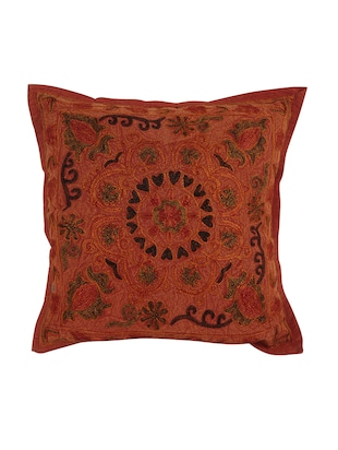 Cotton Single Rajasthani Traditional Cushion Cover By Rajrang - 14425268 - Standard Image - 1