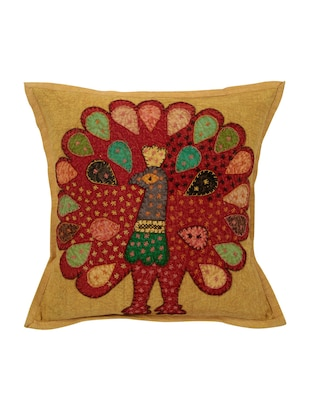 Cotton Single Rajasthani Traditional Cushion Cover By Rajrang - 14425285 - Standard Image - 1