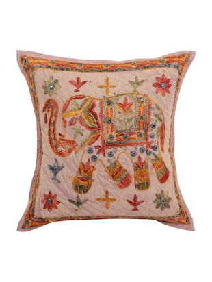Cotton Single Rajasthani Traditional Cushion Cover By Rajrang - 14425288 - Standard Image - 1