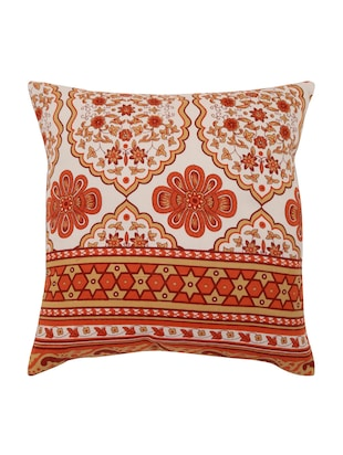 Cotton Single Rajasthani Traditional Cushion Cover By Rajrang - 14425292 - Standard Image - 1