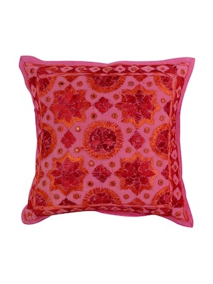 Cotton Single Rajasthani Traditional Cushion Cover By Rajrang - 14425297 - Standard Image - 1