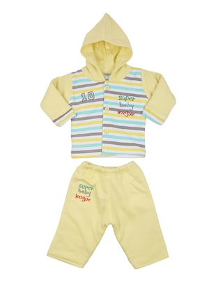 yellow cotton full length twin set - 14427301 - Standard Image - 1