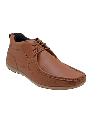 brown synthetic lace up shoes - 14427907 - Standard Image - 1