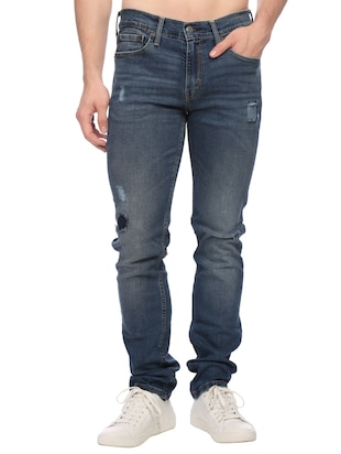 blue denim ripped jeans - 14429450 - Standard Image - 1
