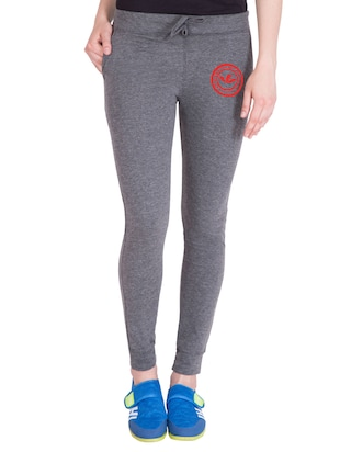 grey cotton track pants - 14432423 - Standard Image - 1