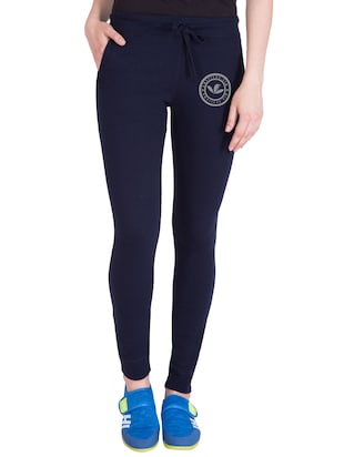 navy blue cotton track pants - 14432441 - Standard Image - 1