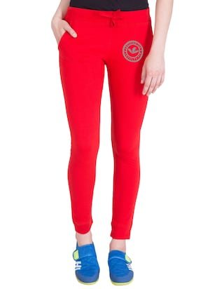 red cotton track pants - 14432449 - Standard Image - 1