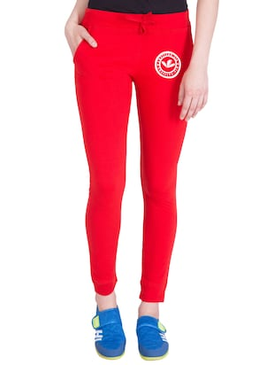 red cotton track pants - 14432450 - Standard Image - 1