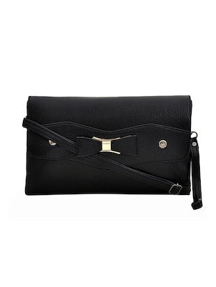 black leatherette sling bag - 14432479 - Standard Image - 1