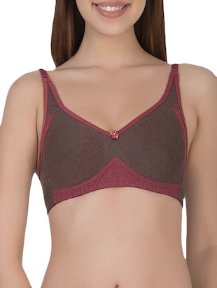 brown cotton tshirt bra - 14432806 - Standard Image - 1