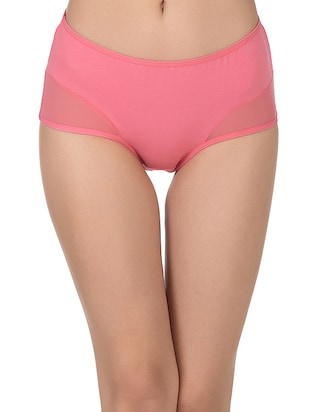 pink cotton hipster panty - 14432853 - Standard Image - 1
