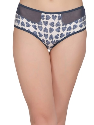 blue cotton hipster panty - 14432889 - Standard Image - 1