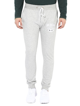 grey cotton joggers - 14433188 - Standard Image - 1