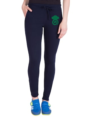 navy blue cotton track pants - 14436756 - Standard Image - 1