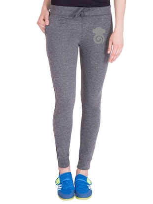 grey cotton track pants - 14436767 - Standard Image - 1