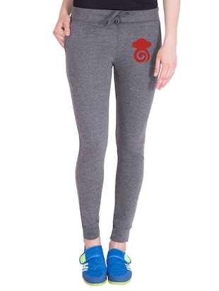 grey cotton track pants - 14436769 - Standard Image - 1