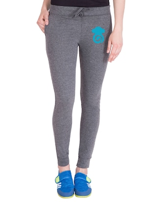 grey cotton track pants - 14436770 - Standard Image - 1