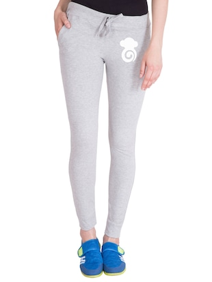grey cotton track pants - 14436781 - Standard Image - 1