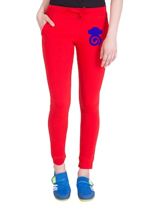 red cotton track pants - 14436784 - Standard Image - 1