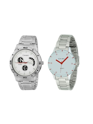 Crude Combo of 2 Stainless steel watch-rg744 for Couple - 14437216 - Standard Image - 1