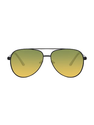 REACT Yellow Gradient Aviator HD Polarized Sunglasses For Men Women - 14438115 - Standard Image - 1