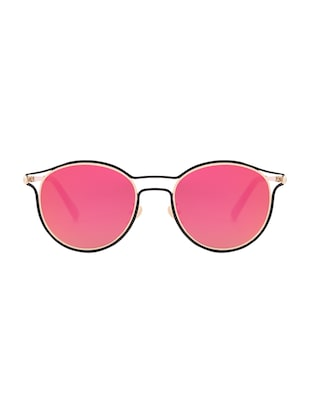 REACTR- New Arrival Mirror Pink Round HD Polarized Sunglasses For Women - 14438122 - Standard Image - 1