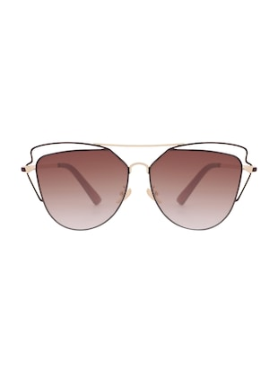 REACTR- New Arrival Brown Gradient Cat Eye HD Polarized Sunglasses For Women - 14438126 - Standard Image - 1