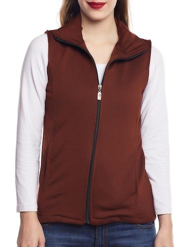 4cbb7db829 Buy Belle Fille Brown Fleece Jacket for Women from Belle Fille for ...