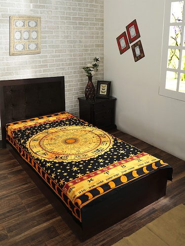 Cotton Traditional Printed Single Bed Sheet/Tapestry - 14452126 - Standard Image - 1